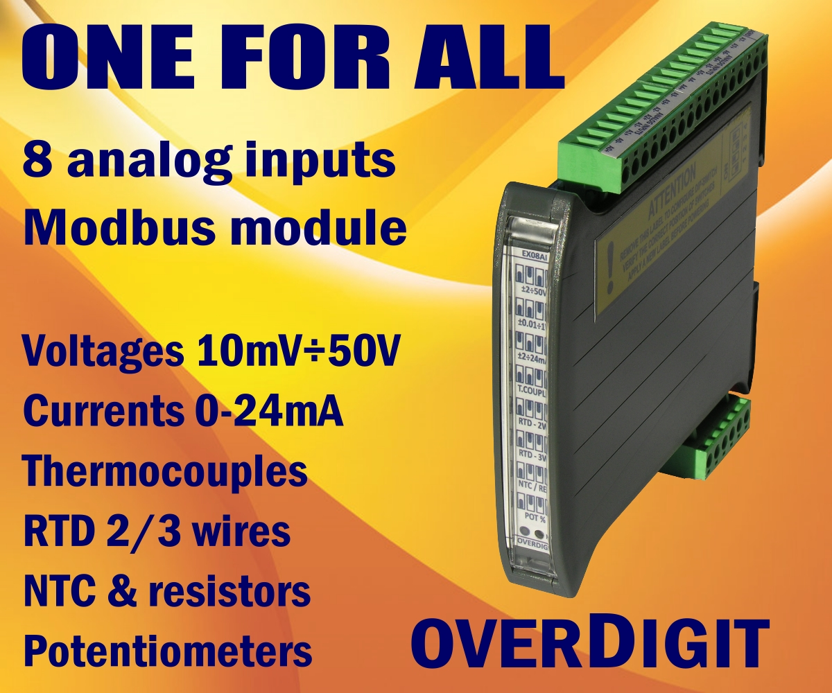 Modbus 8 analog inputs